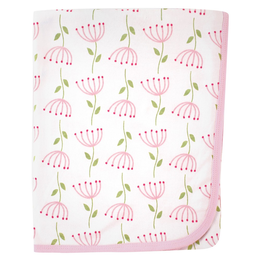 Image of Touched by Nature Organic Cotton Blanket - Pink Flower