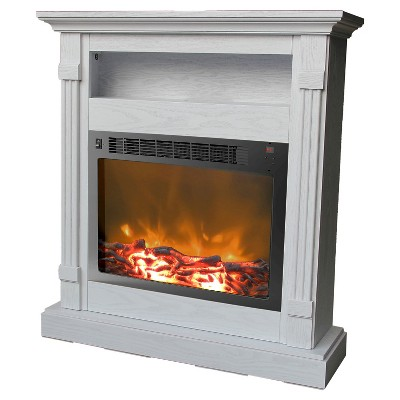 Cambridge CAM34371WHT Sienna Fireplace Mantel with Electronic