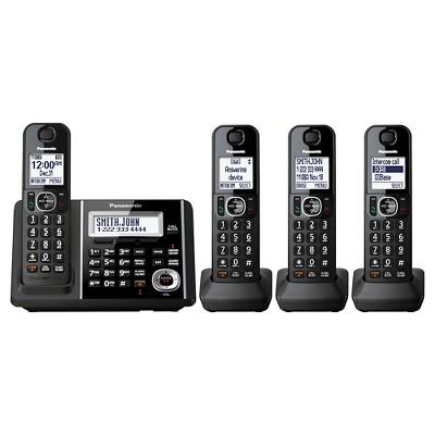 Panasonic Cordless Phone with Dual key Pad and Digital Answering Machine - Black (KX-TGF344B)