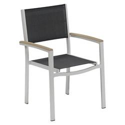 Travira 2-Piece Sling Patio Arm Dining Chair Set