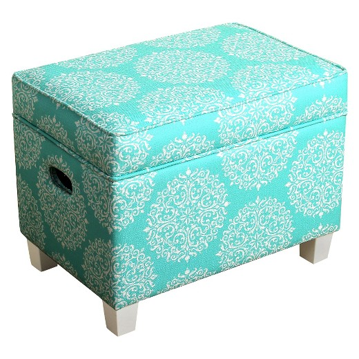 Kids storage ottoman homepop aqua target for Kids storage ottomans