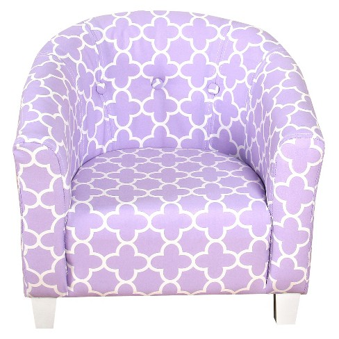 HomePop Juvenile Chair Lavender Quatrefoil - HomePop - image 1 of 4