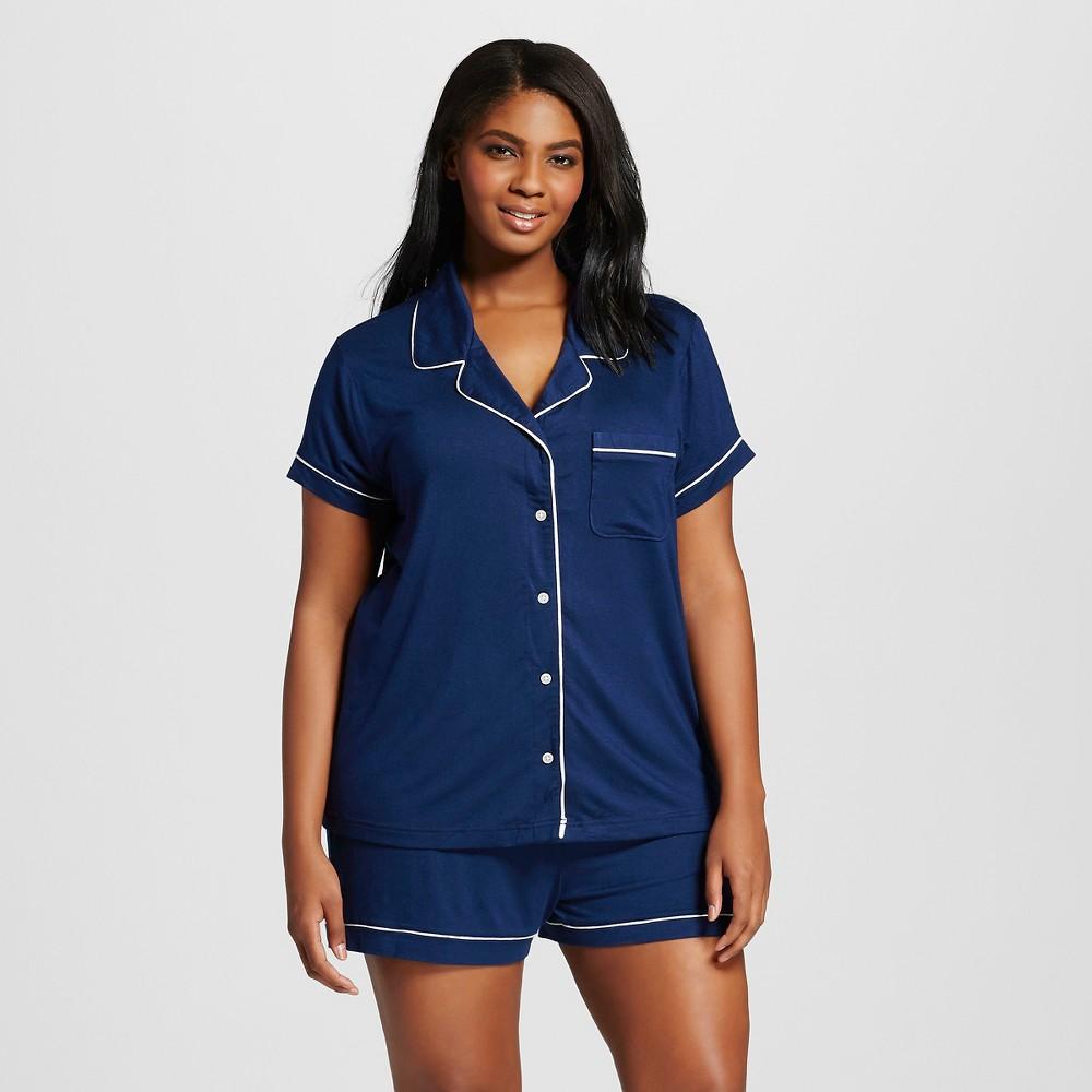 Womens Pajama Set Total Comfort - Nighttime Blue 3X