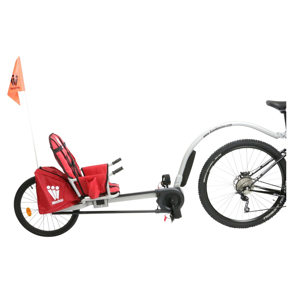 Weehoo Bicycle Trailer with Seat, Red