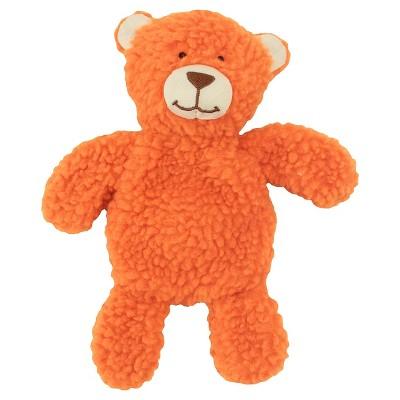 Plush Sherpa Cuddle Bear with Squeaker - Orange - Boots & Barkley™