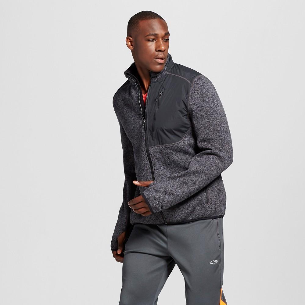 Mens Fleece Jacket - C9 Champion Dark Gray 2XL, Size: Xxl, Charcoal Heather