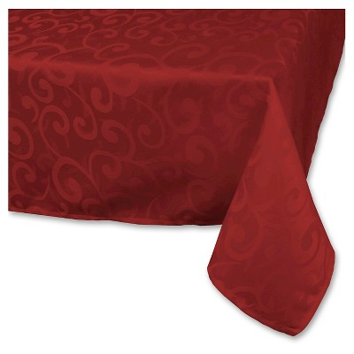 Wine Cheer Polyester Damask Tablecloth (60 X84 )- Design Imports
