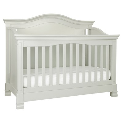 Million Dollar Baby Classic Louis 4-in-1 Convertible Crib with Toddler Bed Conversion Kit - Dove Gray