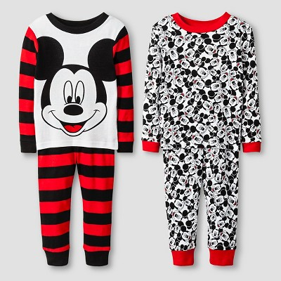 Pajama Sets Mickey Mouse Red 2T