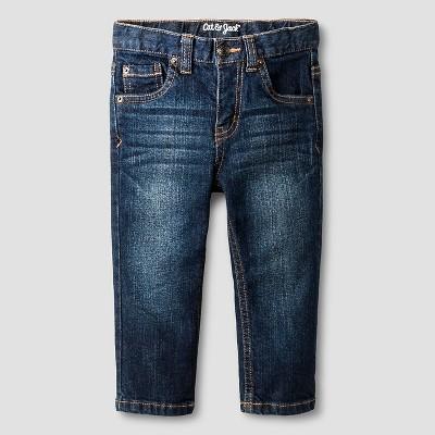 Baby Boys' Straight Jeans Baby Cat & Jack™ - Dark Wash 12 M