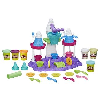 Play-Doh Ice Cream Castle Food Set with 6 Cans of Dough