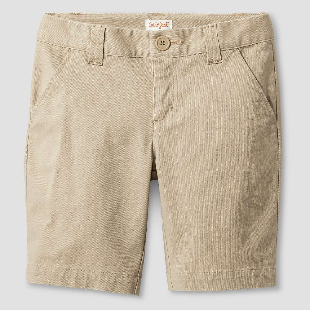 Girls Chino Shorts - Cat & Jack Khaki S, Brown