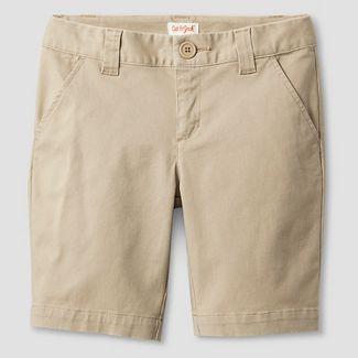girl khaki shorts : Target