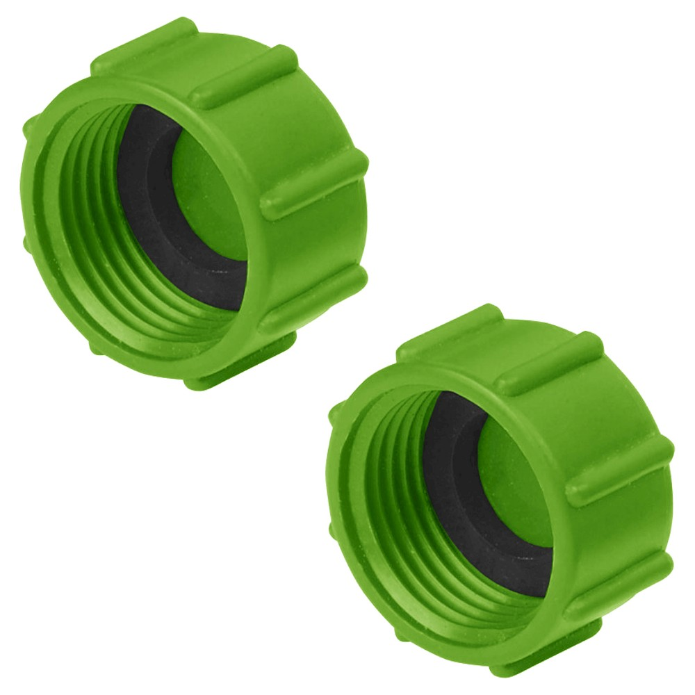 Ray Padula Replacement Sprinkler Garden Hose End Caps (2-Pack), Blue