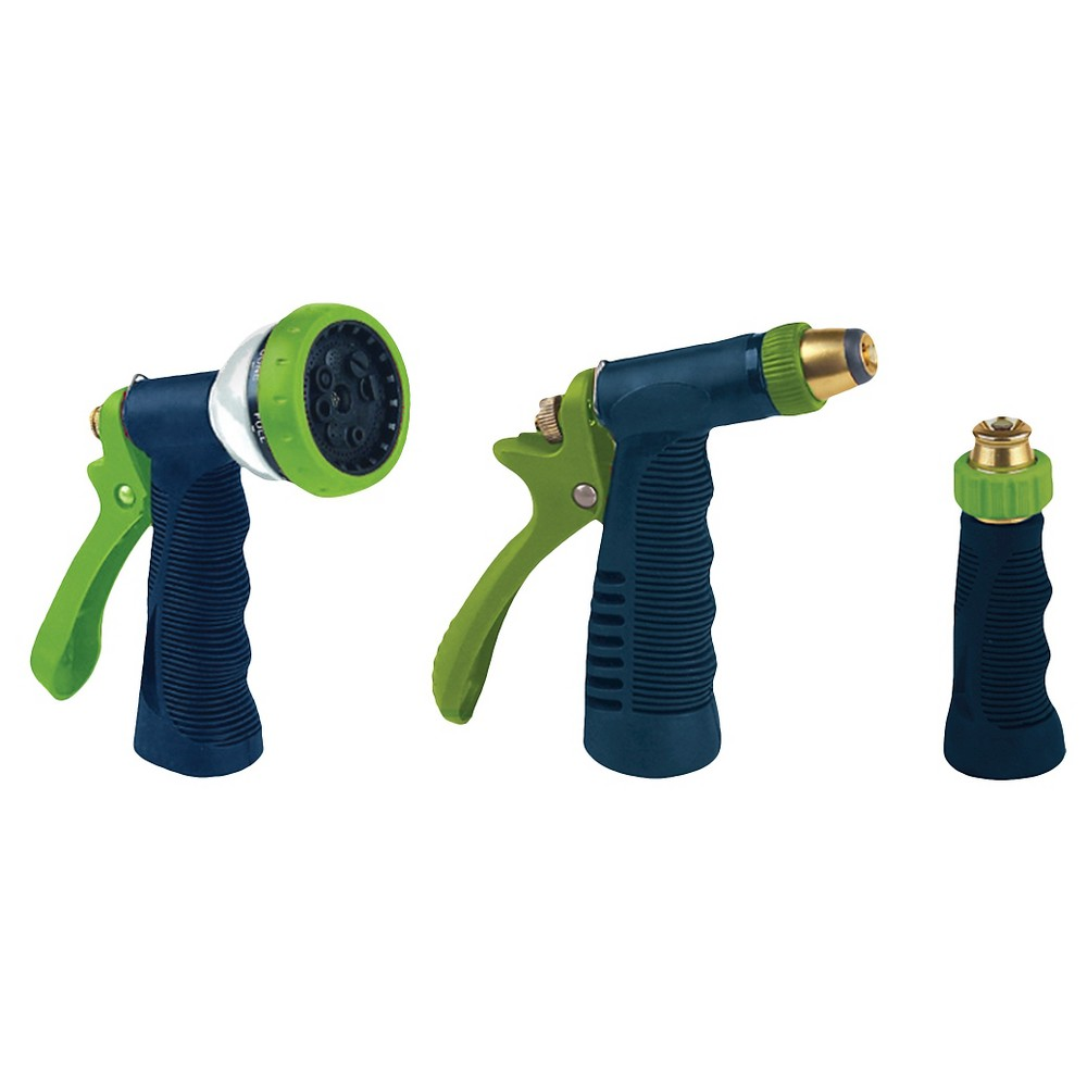 Ray Padula Metal Garden Hose Nozzle Combo Pack (3-Pack), Blue