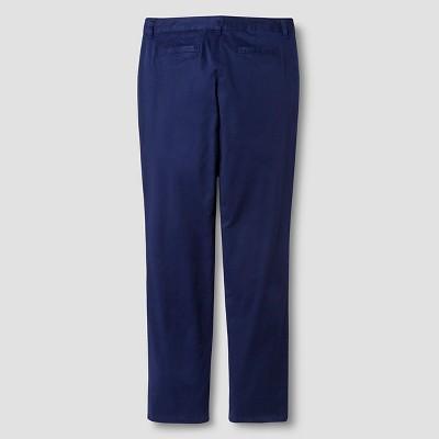 Juniors' Stretch Twill Slim Fit Pant Cat & Jack - Nightfall Blue 7, Women's