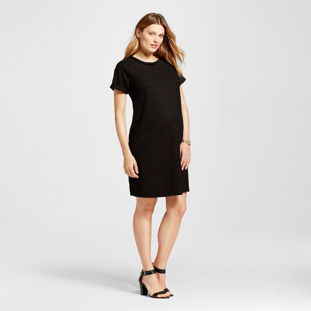 Maternity Texture Stripe Dress Black - L - Liz Lange for Target, Womens