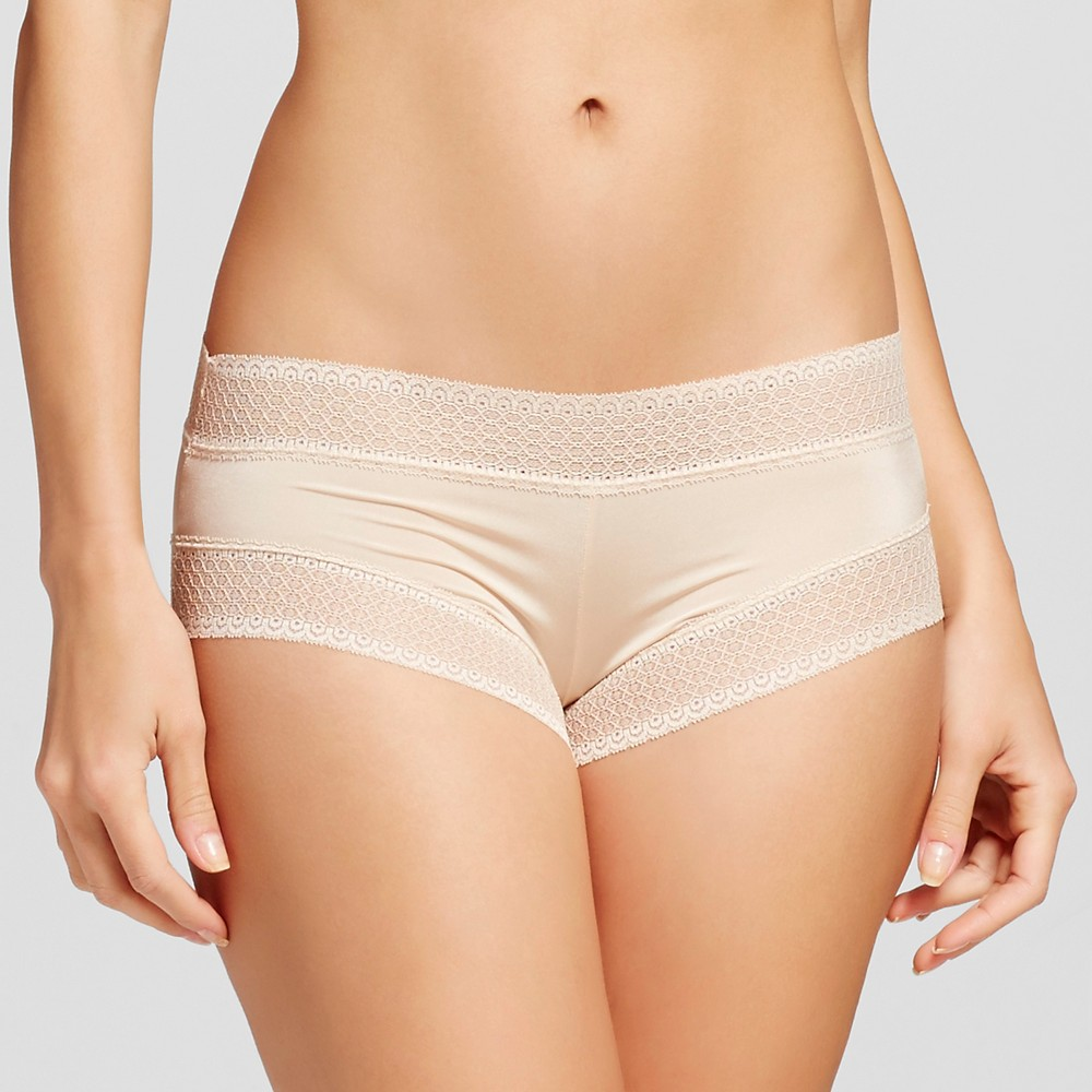 Womens Micro Lace Hipster Mochaccino M