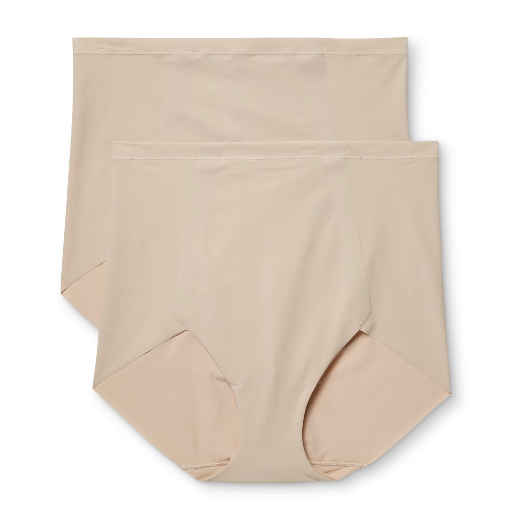 Maidenform Self Expressions Womens 2-Pack Body Con Boyshorts SE1003 - Nude/Nude L, Beige