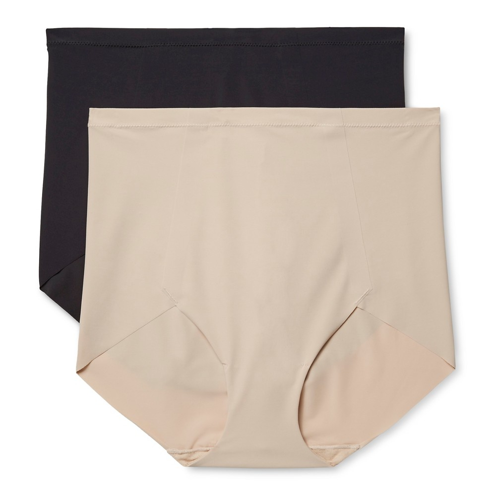 Maidenform Self Expressions Womens 2-Pack Body Con Boyshorts SE1003 - Black/Nude XL