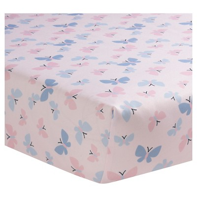 Bedtime Originals Crib Sheet - Butterfly Meadow
