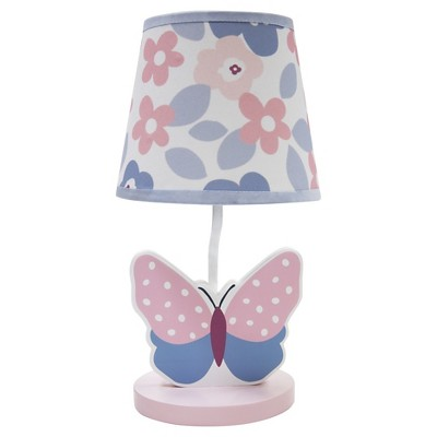 Bedtime Originals Lamp w/ Shade & Bulb - Butterfly Meadow