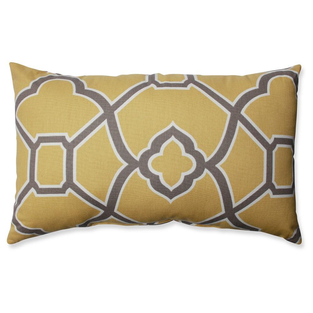 Bali Butterscotch Throw Pillow - Pillow Perfect, Yellow