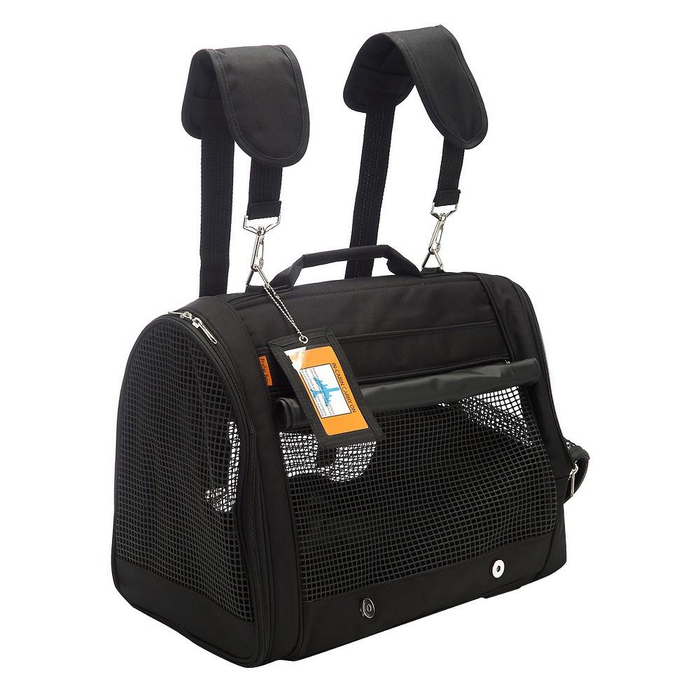 """Prefer Pets Backpack Carrier - Black - 15x12""""x10"""