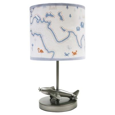 Lambs & Ivy Lamp w/ Shade & Bulb - Silver Cloud
