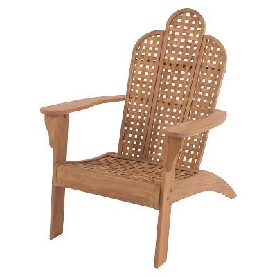 willow bay adirondack chair wwoven seat u0026 back teak