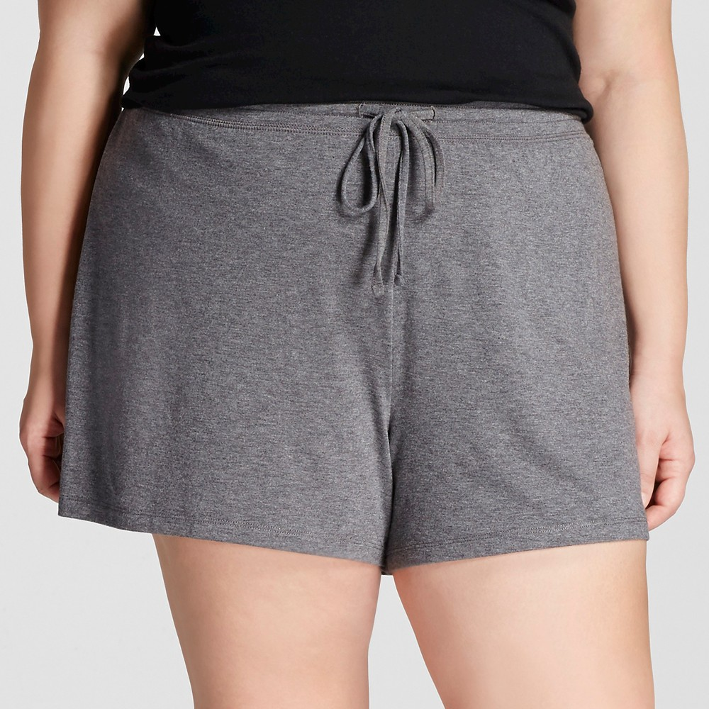 Plus Size Plus Total Comfort Pajama Shorts - Gray 1X, Womens, Shaded Blue