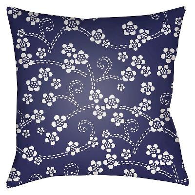 Navy Araguaia Throw Pillow 18 x18  - Surya