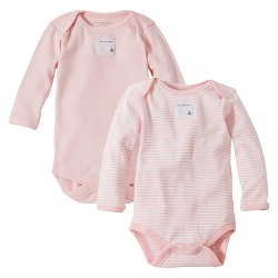 Burt's Bees Baby™ Newborn Bee Essentials 2 Pack Long Sleeve Bodysuits - Blossom 6-9M