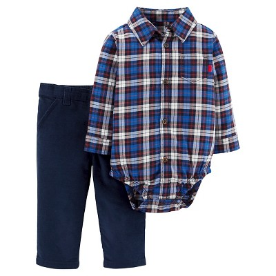 Just One You™ Made by Carter's® Baby Boys' 2pc Bodysuit and Pant Set - Blue - 9M