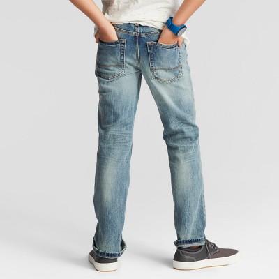 Boys' Straight Fit Jean Cat & Jack Light Wash 5 Slim, Boy's, Blue