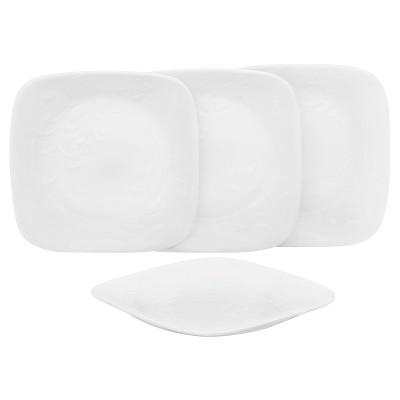 Corelle® Square™ Vitrelle® Appetizer Plates (6.5 )White - Set of 4