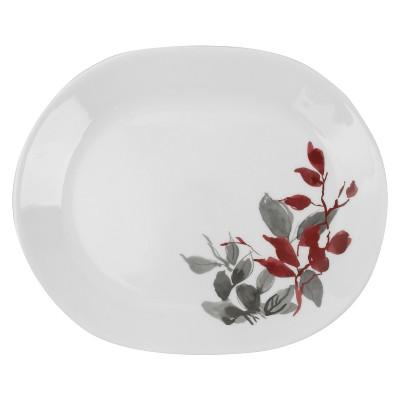 Premium Registry Corelle Boutique Kyoto Leaves 12.25  Oval Serving Platter
