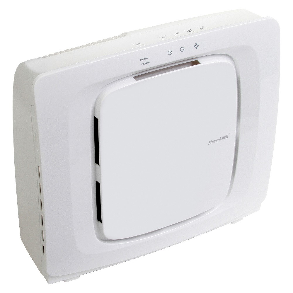 SheerAIRE Quiet Medium Room Hepa Air Purifier AC-2137, White