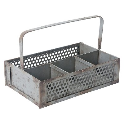 Farmhouse Garden Caddy - Silver - Foreside Home & Garden