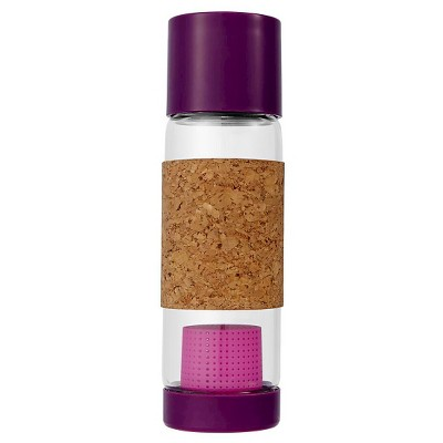 Full Circle Tea Time Travel Bottle 19oz Glass - Dark Purple