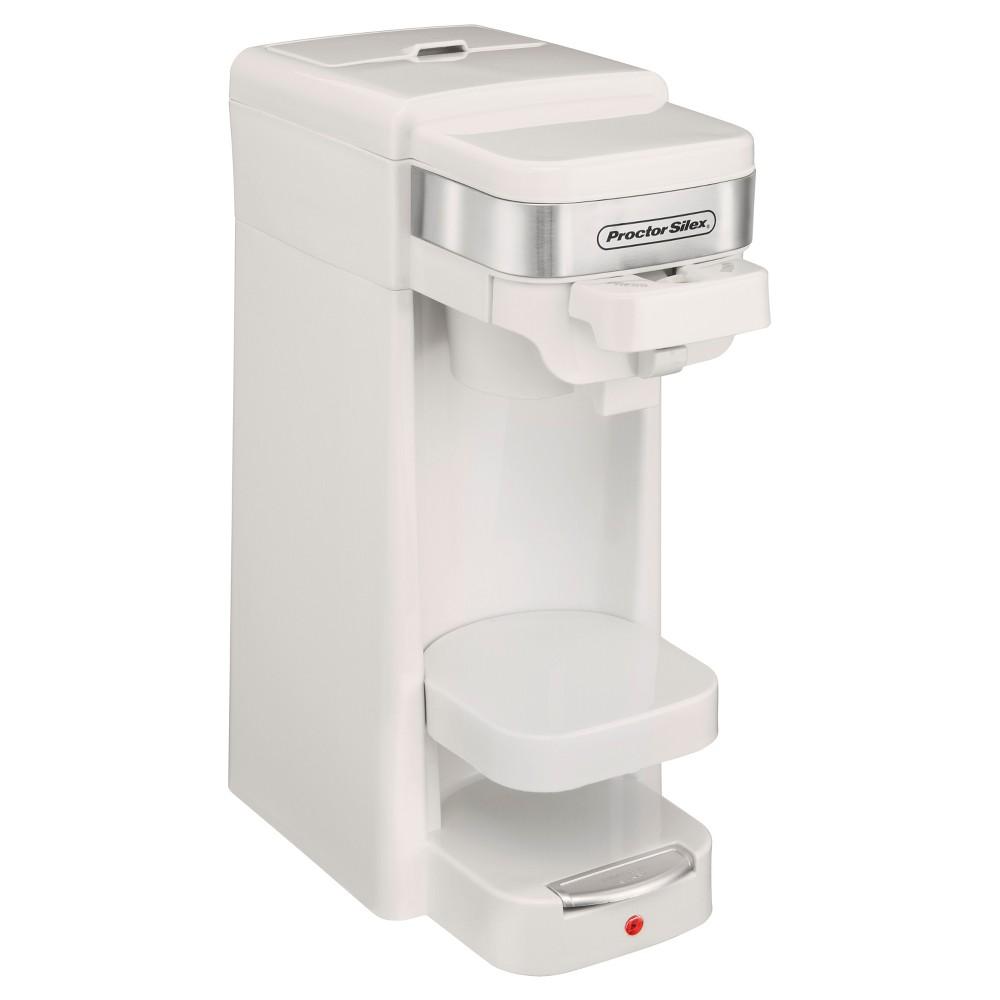 Proctor Silex 14oz. Single Serve Coffee Maker - White 49978