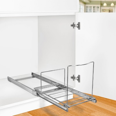 Lynk Professional® Pull Out Bin Holder   Sliding Cabinet Organizer