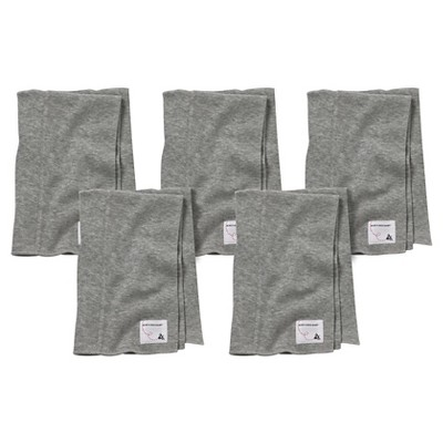 Burt's Bees Baby™ Newborn Bee Essentials 5 Pack Burp Cloths - Heather Gray