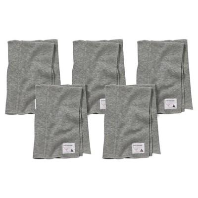 Burt's Bees Baby™ Newborn Bee Essentials 5 Pack Burp Cloths - Heather Gray