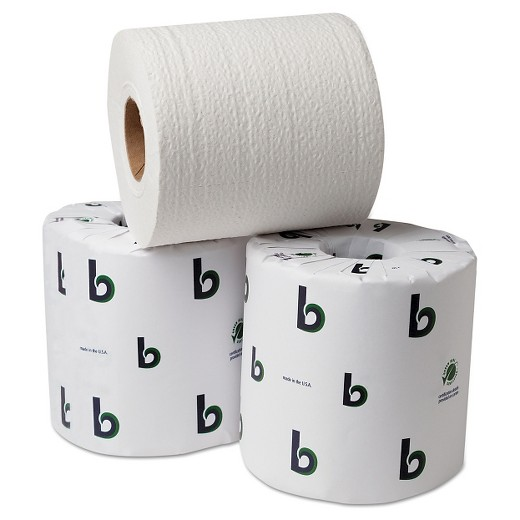 boardwalk green bathroom tissue, 2-ply, white, 500 sheets/roll-96