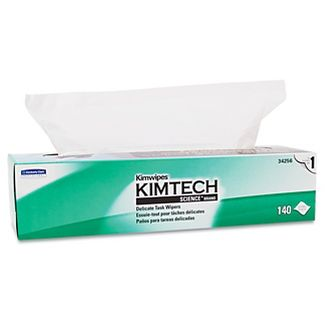 Kimberly-Clark, KCC34256, KimWipes Task Wipers, 140 / Box