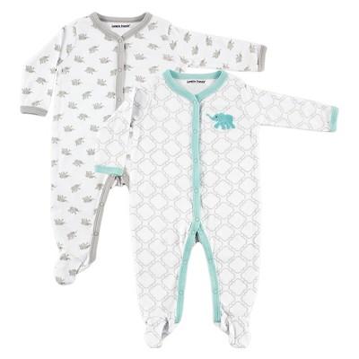 Luvable Friends Baby Boys' 2 Pack Sleep N' Play - Elephant 0-3M