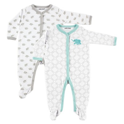 Luvable Friends Baby Boys' 2 Pack Sleep N' Play - Elephant 3-6M