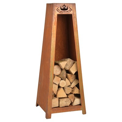 Esschert Design Outdoor Fire Wood Storage - Rust Finish