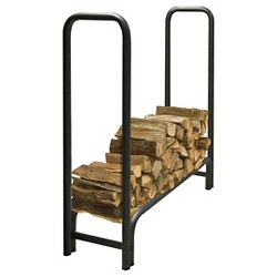Pleasant Hearth 4' Heavy Duty Log Rack - Black